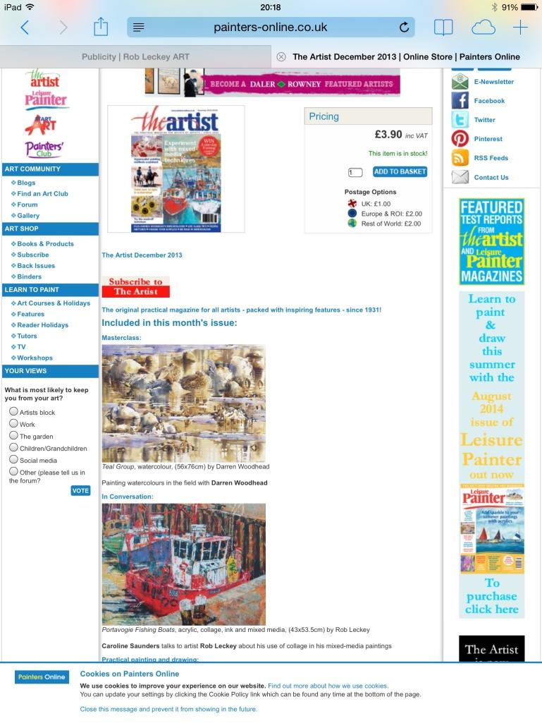 The Artist Magazine December 2013